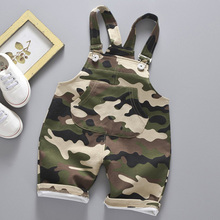 Casual Summer Baby Boys Girls Roupas Striped Camouflage Infants Kids Children Cotton Overalls Shorts Pantalones 1-4Y