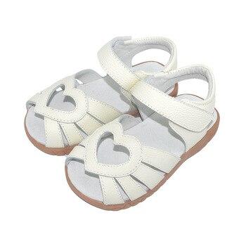 Sandalias de piel auténtica para niñas, Zapatos con recortes en forma de...