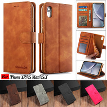 Luxury Leather Flip Case For Apple iPhone XR XS X Max Wallet Satnd Card Holder Cover Coque