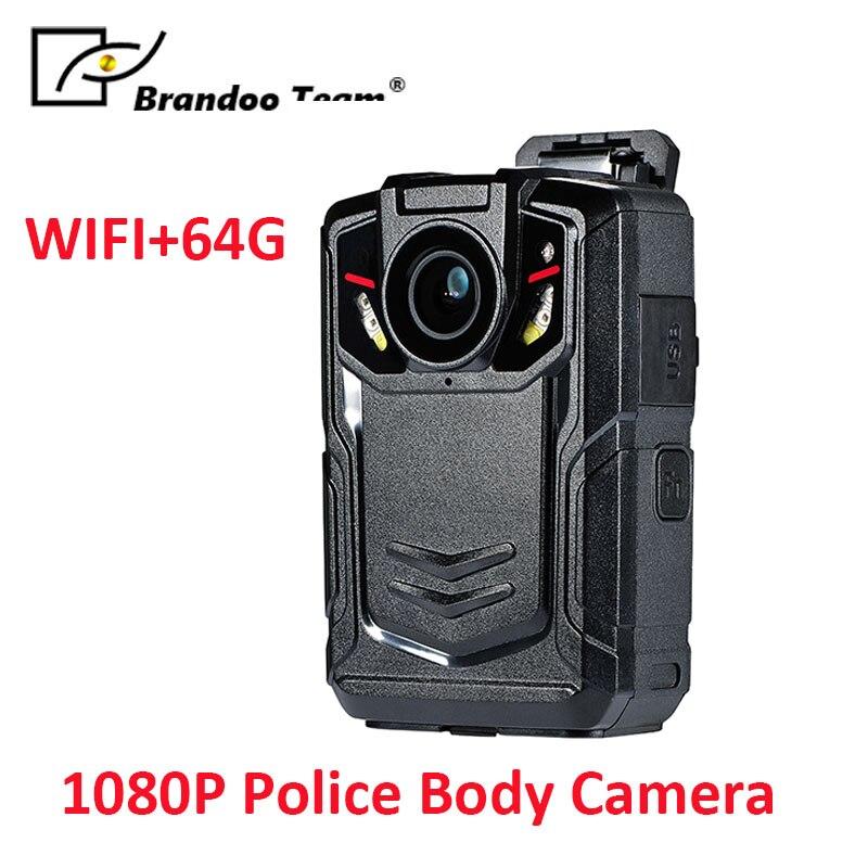 лучшая цена WIFI 64GB Police Worn IR Body Cam Camera Video Recorder