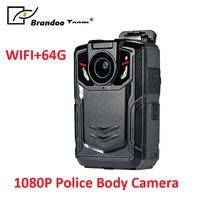 WIFI 64GB Police Worn IR Body Cam Camera Video Recorder