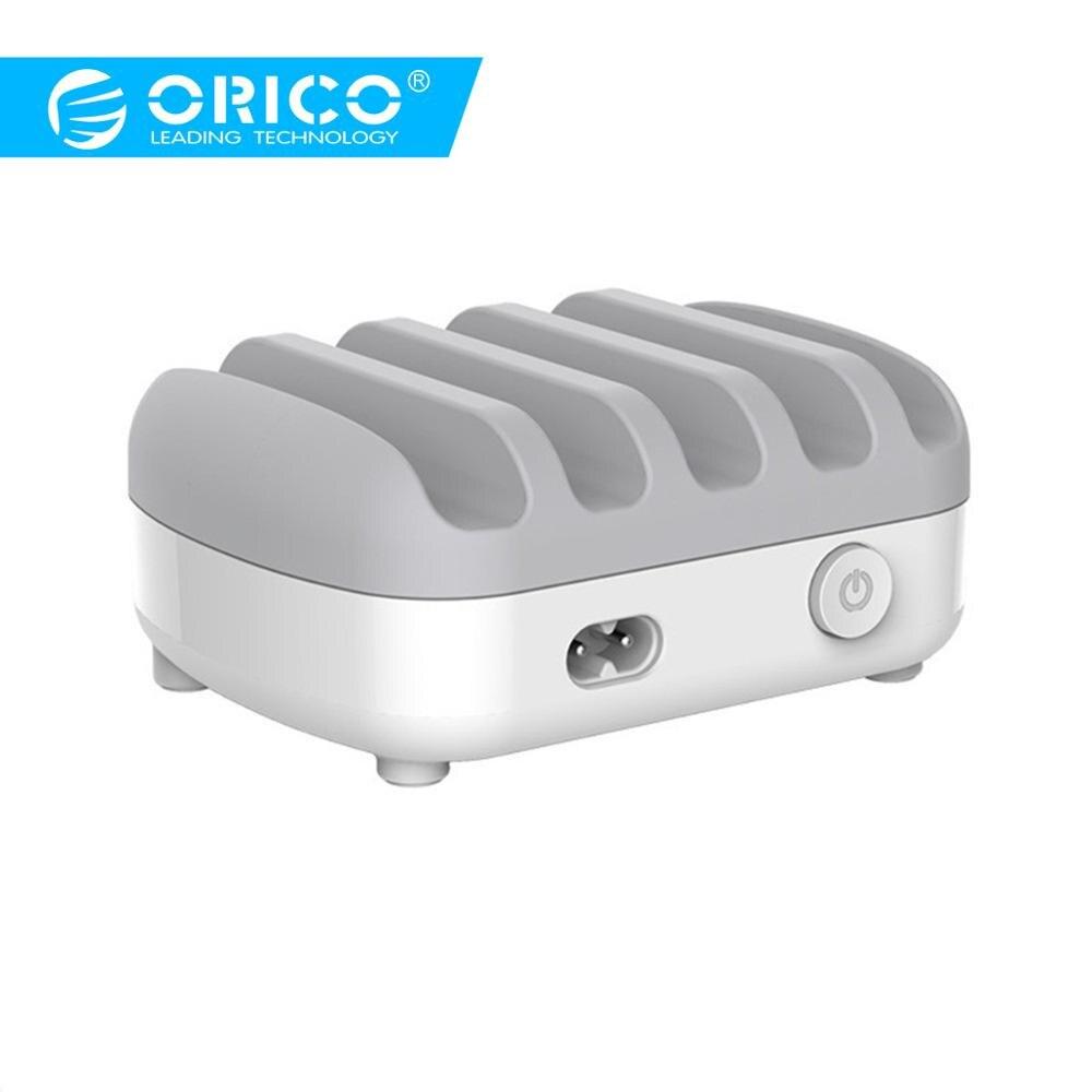 ORICO chargeur USB 5 Ports 5 V 2.4A 40 W Station de charge bureau smartphone tablette chargeur avec support pour iphone 7 plus chargeurORICO chargeur USB 5 Ports 5 V 2.4A 40 W Station de charge bureau smartphone tablette chargeur avec support pour iphone 7 plus chargeur