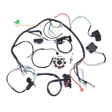 Complete Electrics Coil CDI Magneto Stator Wiring Harness for 4-Stroke ATV QUAD 150CC 200CC 250CC 300CC Dirt Bike 4 wheelers roller magneto coil cover yp250 linhai atv engine 250cc 300cc majesty accessories free shipping