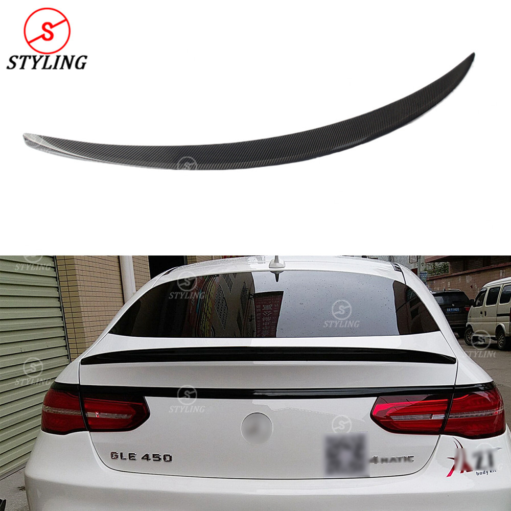 Tt Style Carbon Fiber Rear Spoiler For 2015 2019: W166 AMG Carbon Fiber Rear Spoiler For Mercedes GLE63 300