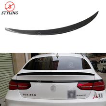 W166 AMG Carbon Fiber Rear Spoiler For Mercedes GLE63 300 400 Trunk Wing spoiler style 2015 2016 2017 2018 2019
