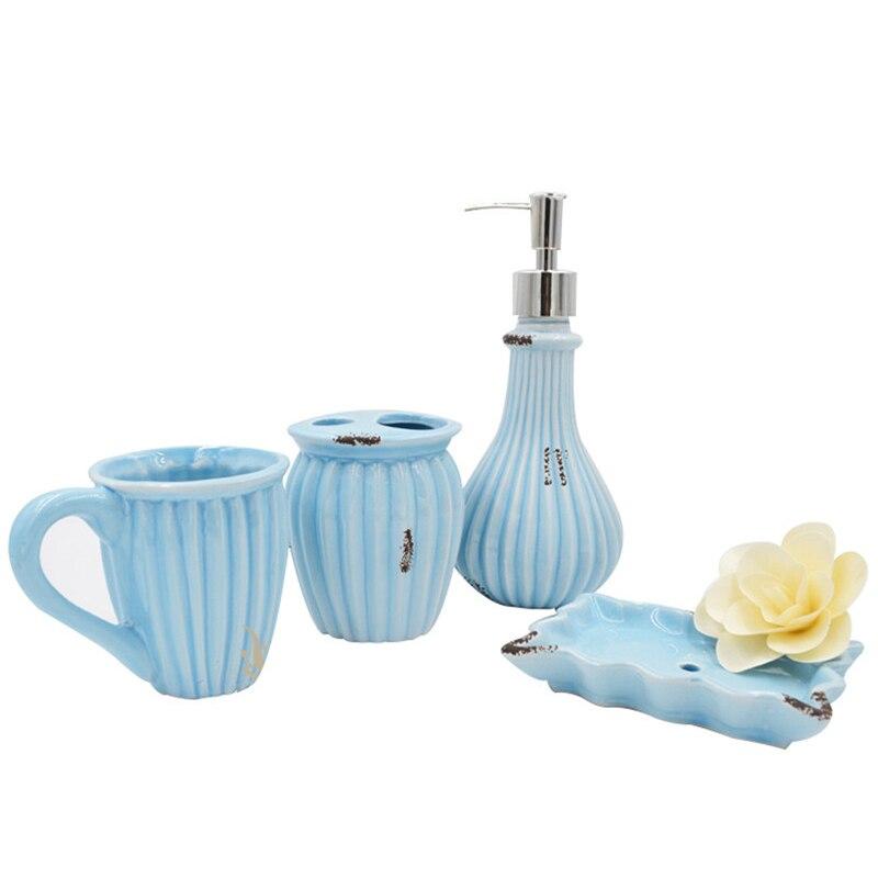 Online Get Cheap Bathroom Accessories Blue Aliexpress Com