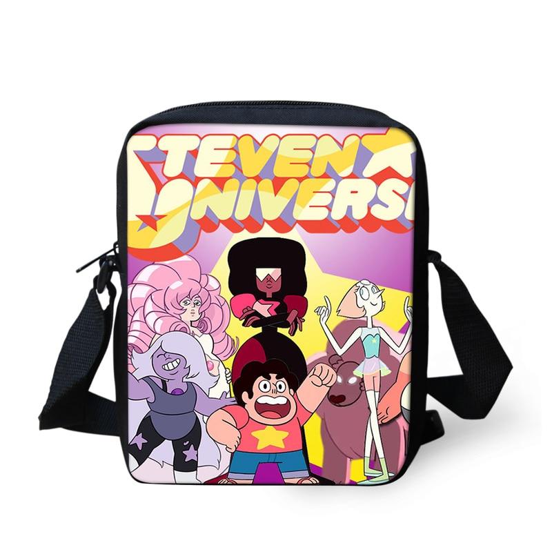 79179940f486 Cartoon Steven Universe school Handbags Messenger Bags Crossbody Bag mini Bookbag  Schoolbag Daily Shoulder Satchel Casual