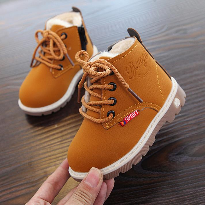 HaoChengJiaDe 2018 New Winter For Child Kid Girl Boy Snow Boots Comfort Thick Antislip Short Boots Fashion Cotton-padded Shoes 4