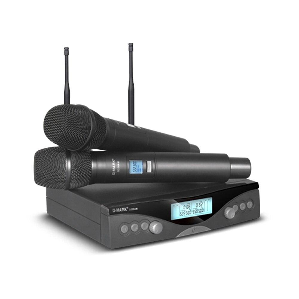 G-MARK G320AM ระบบไมโครโฟนไร้สาย UHF ระดับมืออาชีพอัตโนมัติมือถือไมโครโฟนความถี่ปรับ 100M รับ