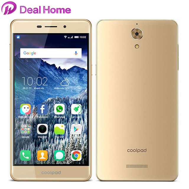 Original Coolpad Mega 2.5D 5.5 inch HD Display smartphone 3GB RAM 16GB ROM MT6735P Quad Core Android 6.0 8MP 4G LTE mobile phone
