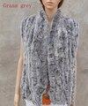 Настоящее Трикотажные Рекс Кролика Шарф Женщины Зимой Теплый натуральный мех шаль Бесплатная доставка KFP574