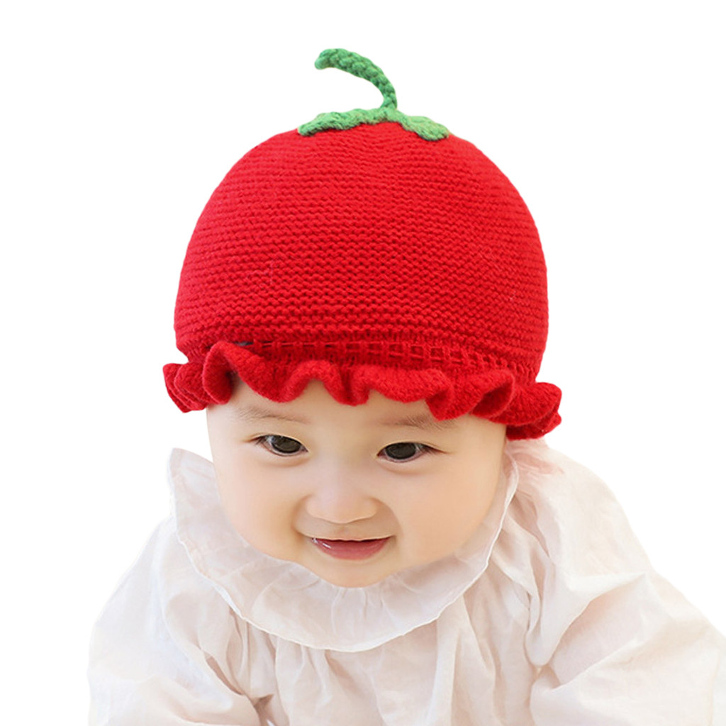 X Shop Lovely Strawberry Winter Cap for Toddler Kids