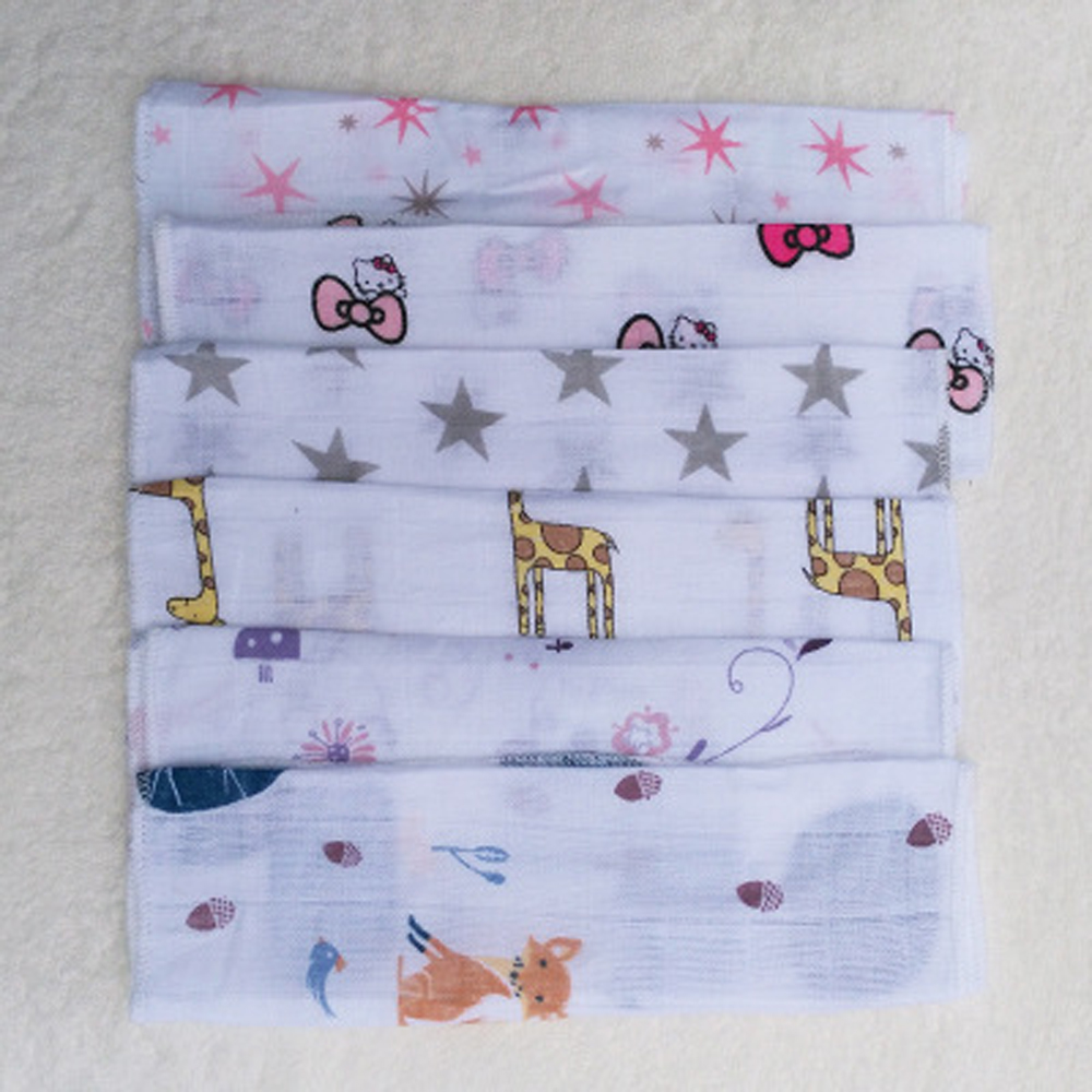 5pcs/lot 2 Layers Cotton Baby Towel Saliva Towel Infant Handkerchief ...