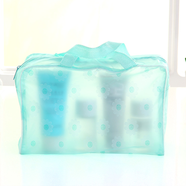 3pcs trasparente bagno impermeabile borsa da bagno bagno wc sacchetto - Organizzazione e deposito in casa - Fotografia 5