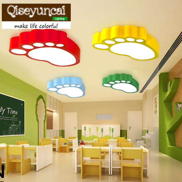 New feet colorful LED ceiling lamp creative cartoon personality early swimming, mother child Pavilion children's room lighting