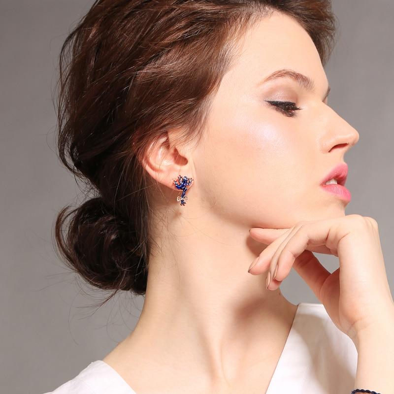 Jewelry & Accessories 2018 New Trendy Vintage Crystal Enamel Green/blue Cute Frog Stud Earrings For Women Best Seller Jewelry Accessories Top Gift Luxuriant In Design