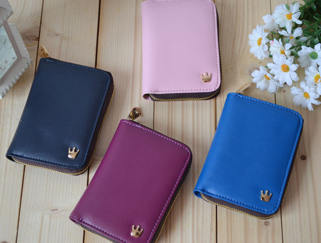2012  Fashion korea donbook crown handbag wallet purse for mobile phone,90*127mm,10pcs/lot