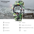 GPS Navigation Mountaineering Army Table PASNEW LED Electronic Wristwatch 100 Meters Waterproof Man Outdoor Diving Digital Watch