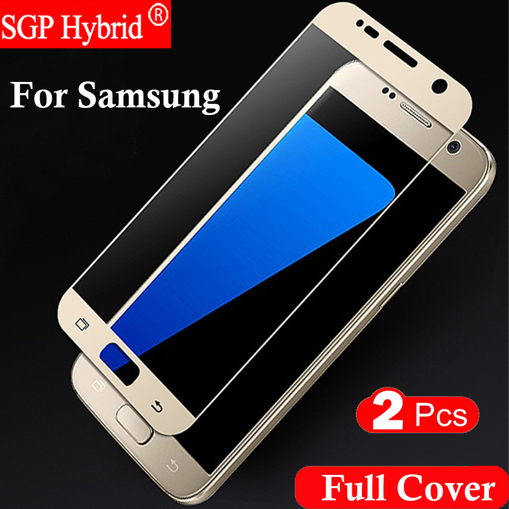 2 pcs full cover Tempered glass Screen Protector For Samsung Galaxy S3 S4 S5 S6 S7 S 3 4 5 6 7 Phone Protective Film Case
