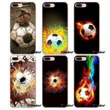 92fa0c6788a Fuego fútbol balón de fútbol funda de suave para teléfono Sony Xperia M2 M4  M5 E3 T3 XA Aqua Z Z1 Z2 z3 Z5 compacto LG G4 G5 G3 .