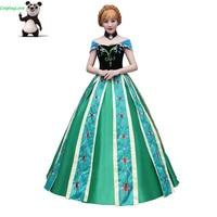 CosplayLove Movie Custom made Green Adult Anna Princess Dress Cosplay Dress Princess Cosplay Costume