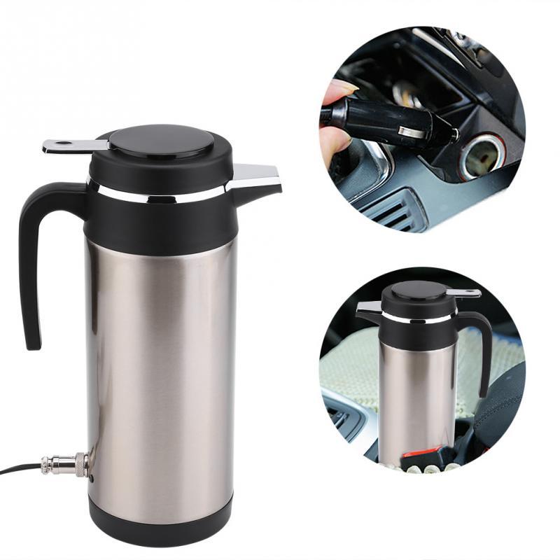 Électrique dans la voiture KettleTravel Thermoses chauffage eau café thé bouteille 1200 ML 12 V acier inoxydable