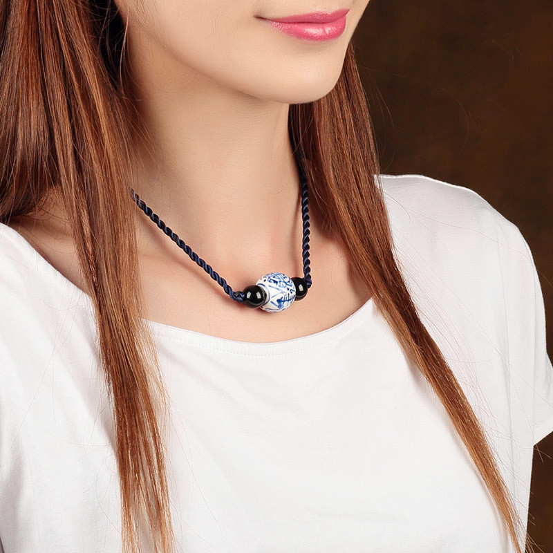 Jewelry & Watches Trend blue brown necklace pendant Accessories
