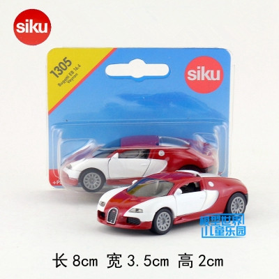 SIKU 1305/DieCast Metal Model/1:55 Scale/Bugatti EB 16.4 Veyron Super Sport Car/Toy for childrens gift/Educational Collection ...