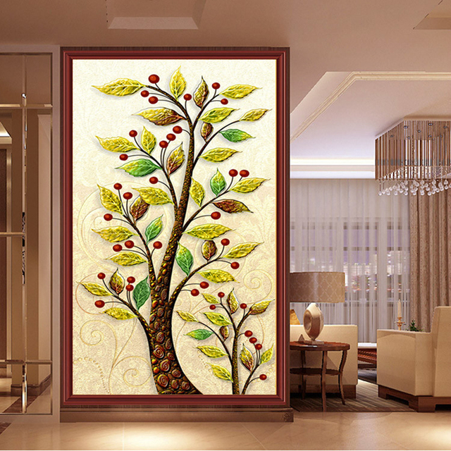 money tree 5d diy diamond painting chinese cross stitch picture ...