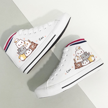 Skatebarding Shoes High Quality Vulcanized Causal Soft Women flat sole shoes chaussure femme White Canvas