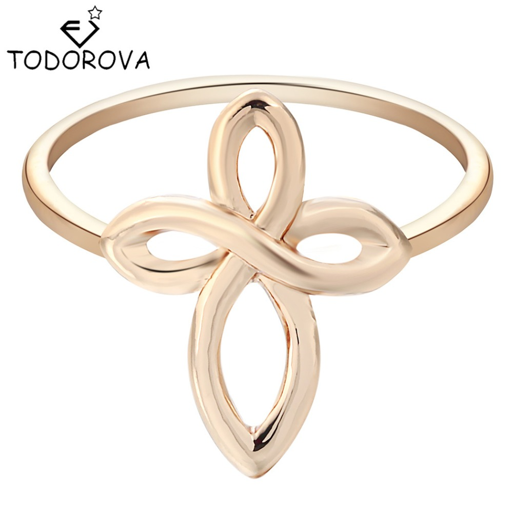 Todorova Infinity Cross Ring Jewelry Midi Knuckle Finger Rings Gift for Women Statement Novelty Wedding Jewelry Bijouterie China