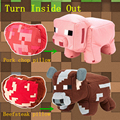 With Gift Good Quality Minecraft Plush Toy Cow Pig Pillow Brinquedos Juguetes Minecraft Cow Pig Toys JJ Creeper For Kids Gifts