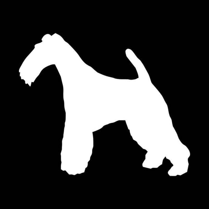 13,7*11,4 CM Draht Foxterrier Hund Vinyl Aufkleber Schöne ...
