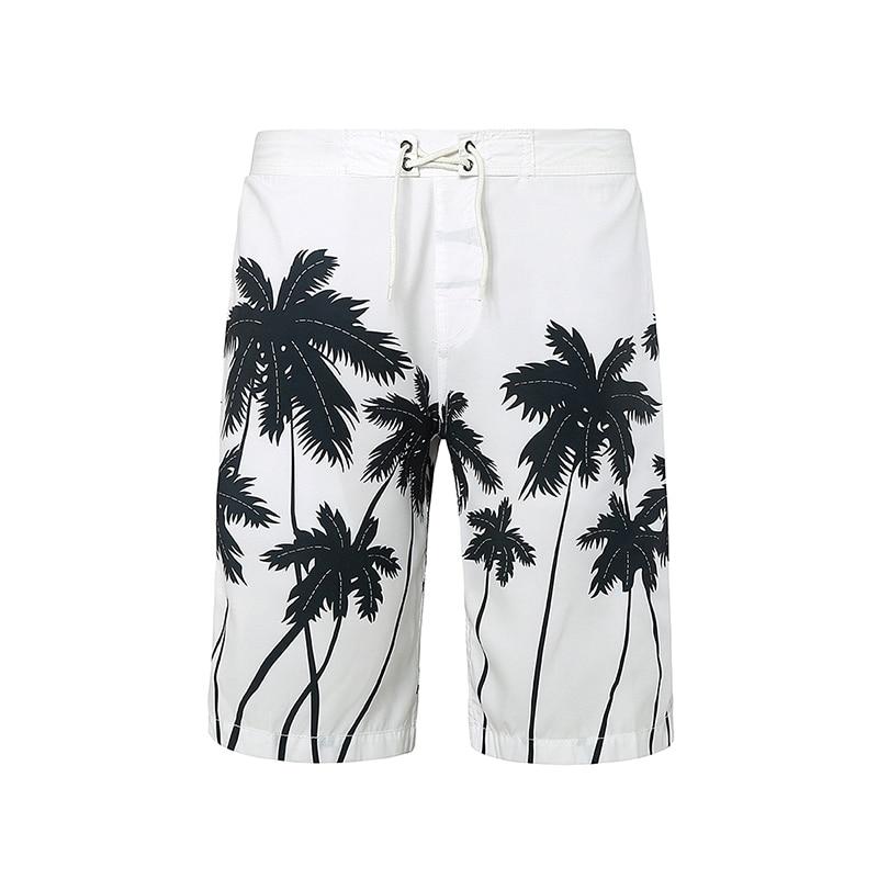 Brand Men's Shot Board Shorts New Man Summer Fashion Coconut Tree Printing Casual Shorts Stripe Quick Drying Beach Pants HF2198