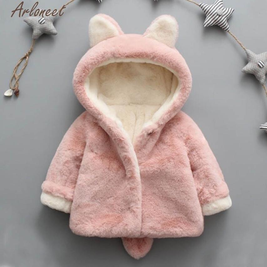 Arloneet пальто для малышей Обувь для девочек Обувь для мальчиков осень-зима пальто с капюшоном куртка-плащ плотная теплая одежда Одежда для ма...