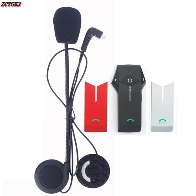 Newest Version! FM function+Multi Interphone Stereo headphones intercom Motorcycle Helmet Earphones Bluetooth helmet headset