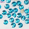 QIAO SS20 Crystal Glass Rhinestone For Clothes 2088 Malachite Blue Color Non Hot Fix Flatback Rhinestones