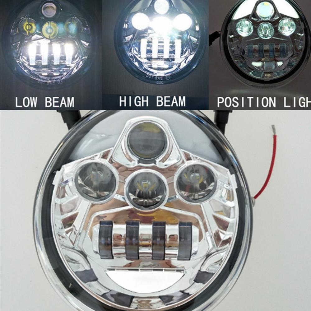 Led Headlight Motor Headlamp High Low Beam For Harley