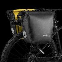 ROCKBROS 18L Waterproof Bicycle Seat Bag Portable Bike Pannier Bag Rear Rack Tail Seat Trunk Pack