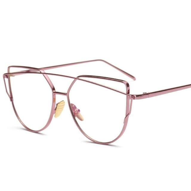 a25ce042b5 New Fashion Cat Eye Glasses For Women Glasses Men Optical Lens Glasses  Metal Frame Sunglasses Female