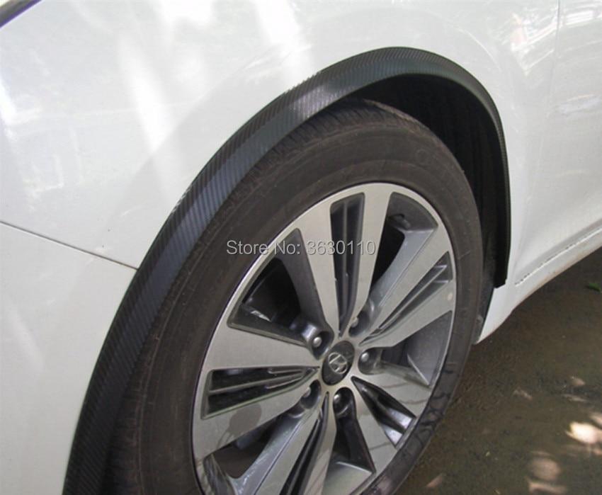 2pcs Black Carbon Fiber Wheel Eyebrow Strip Protector Wheel-arch Extend Size 46/'