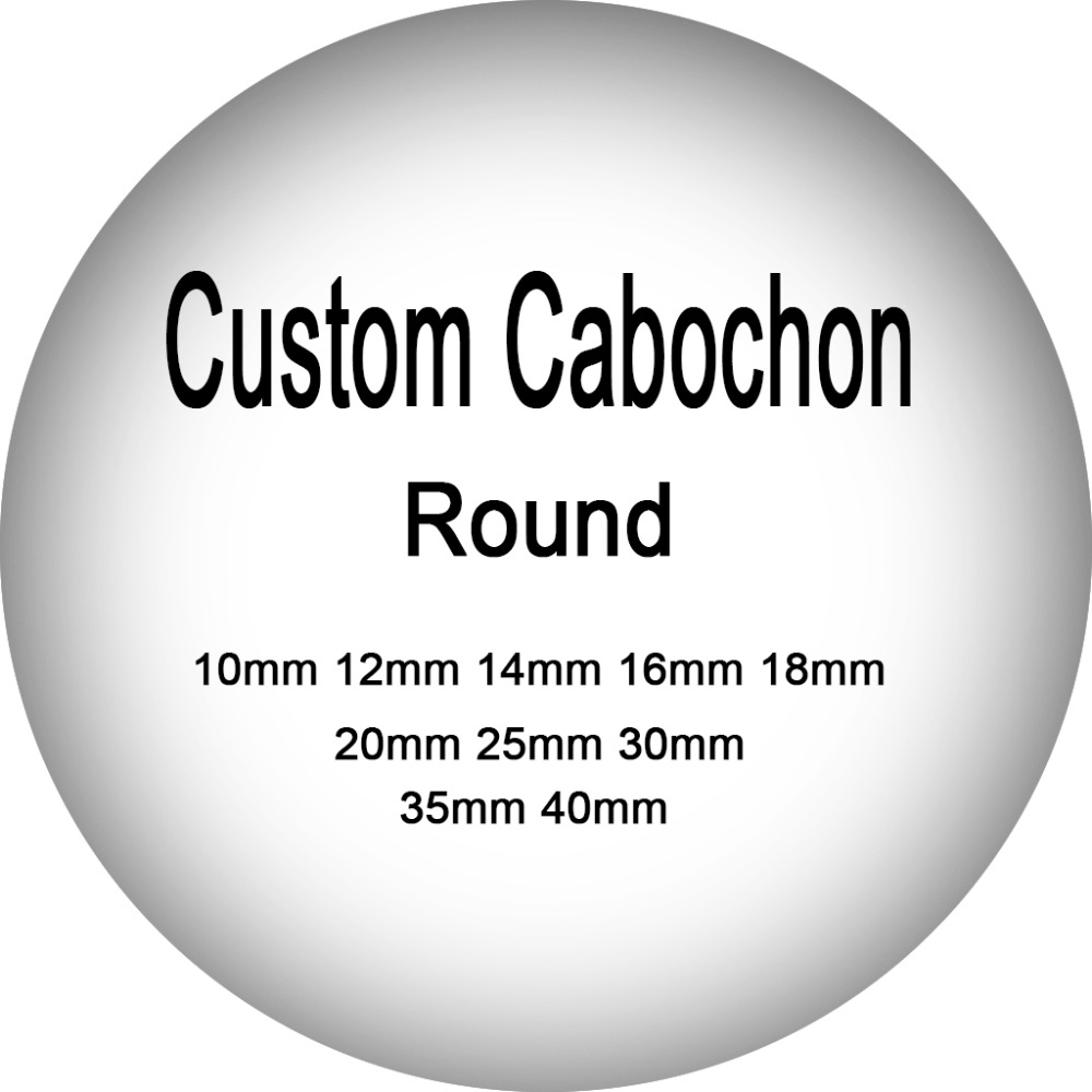 onwear Custom Cabochon round glass 10mm 12mm 14mm 16mm 18mm 20mm 25mm 30mm 35mm 40mm diy jewelry findings
