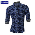 Men's Shirt Large Size Chemise Homme Long Sleeve Flower Pattern Slim Camisa Masculina Casual Shirt Men Brand Clothing Top Man