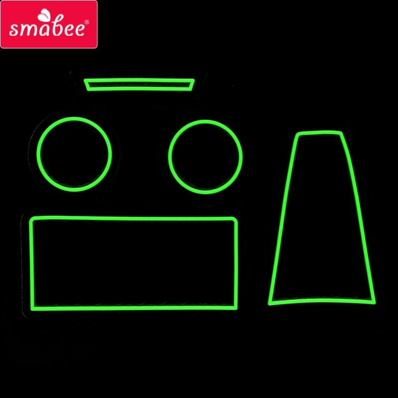 Porta slot pad Per Lada Kalina Griglia ling texture Freddo luce di notte antiscivolo Porta scanalatura stuoie stuoia Accessori Auto Rosso/Blu 5 PZ