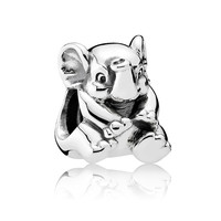 Lucky Elephant Charm Bead 925 Sterling Silver Jewelry For Women Fits Europe Bracelets DIY Making