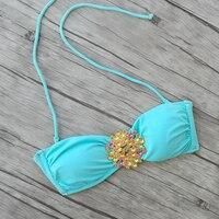 Diamant Noir Bikini TOPS pour Femmes Maillots De Bain Top Beachwear Noir D'eau maillots de Bain Sexy de natation Secrets biquini UP