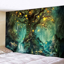 Tree Of Life Nature Psychedelic Tapestry Wall Fabric Art Hippie Bohemian Landscape Wall Cloth Tapestries Home Decor Bedroom Dorm