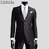 Coat Pants New Men Suits Slim Custom Fit Tuxedo Brand Formal Fashion Bridegroon Business Dress