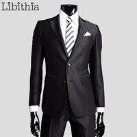 Coat Pants New Men Suits Slim Custom Fit Tuxedo Brand Formal Fashion Bridegroon Business Dress