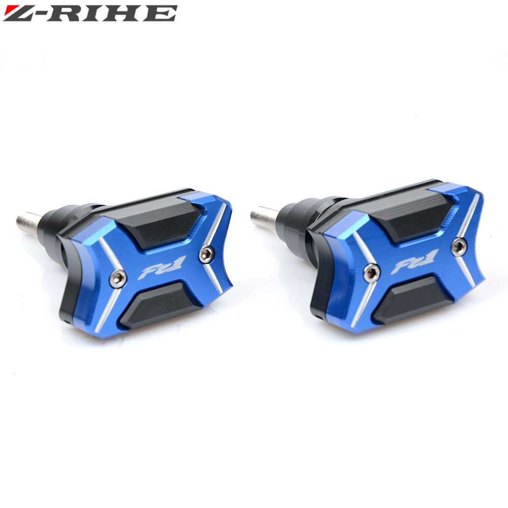 For Yamaha aluminum Motorcycle Frame Crash Pads Engine Case Sliders Protector Motorcycle Frame Slider For Yamaha FZ1 2001-2015 with yzf logo motorbike frame slider motorcycle frame crash pads engine case sliders protector for yamaha yzf1000 r1 2015 2016